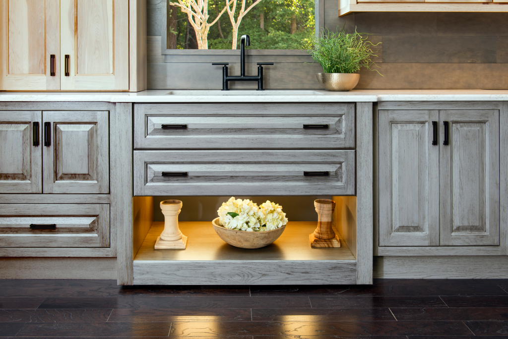 Gray-Toned Cabinets