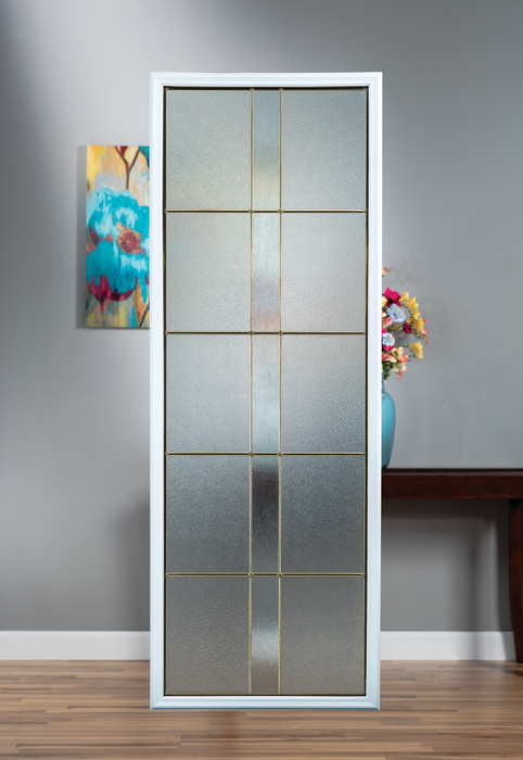 Four designs part of doorglass collection