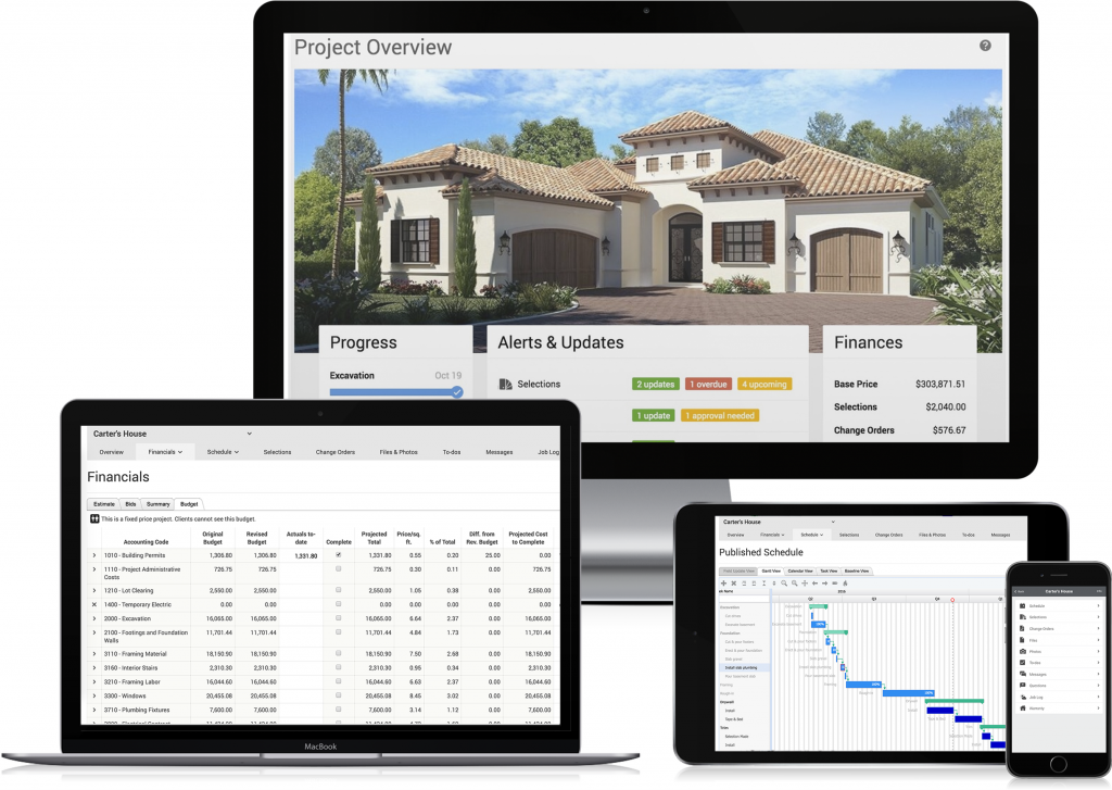 Software specifically for remodelers, custom builders