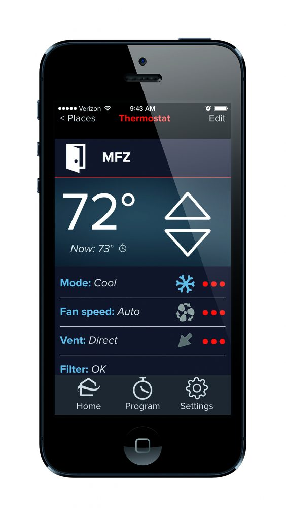 App, interface pairing provides remote access to indoor units