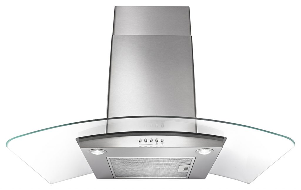 Concave Glass Wall Mount Range Hood