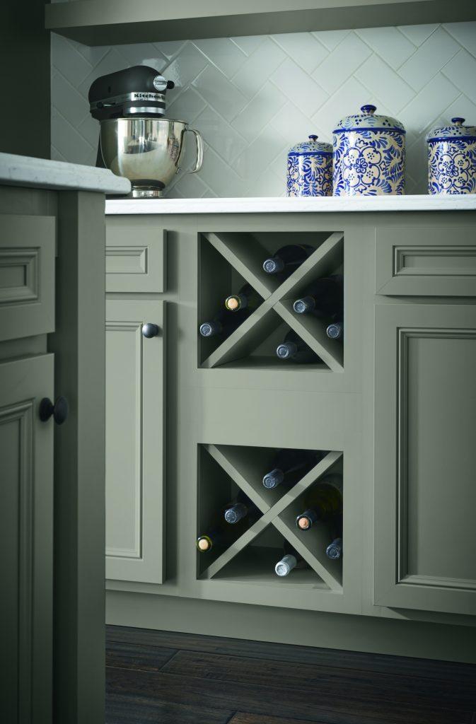 Stone Gray Cabinet Finish