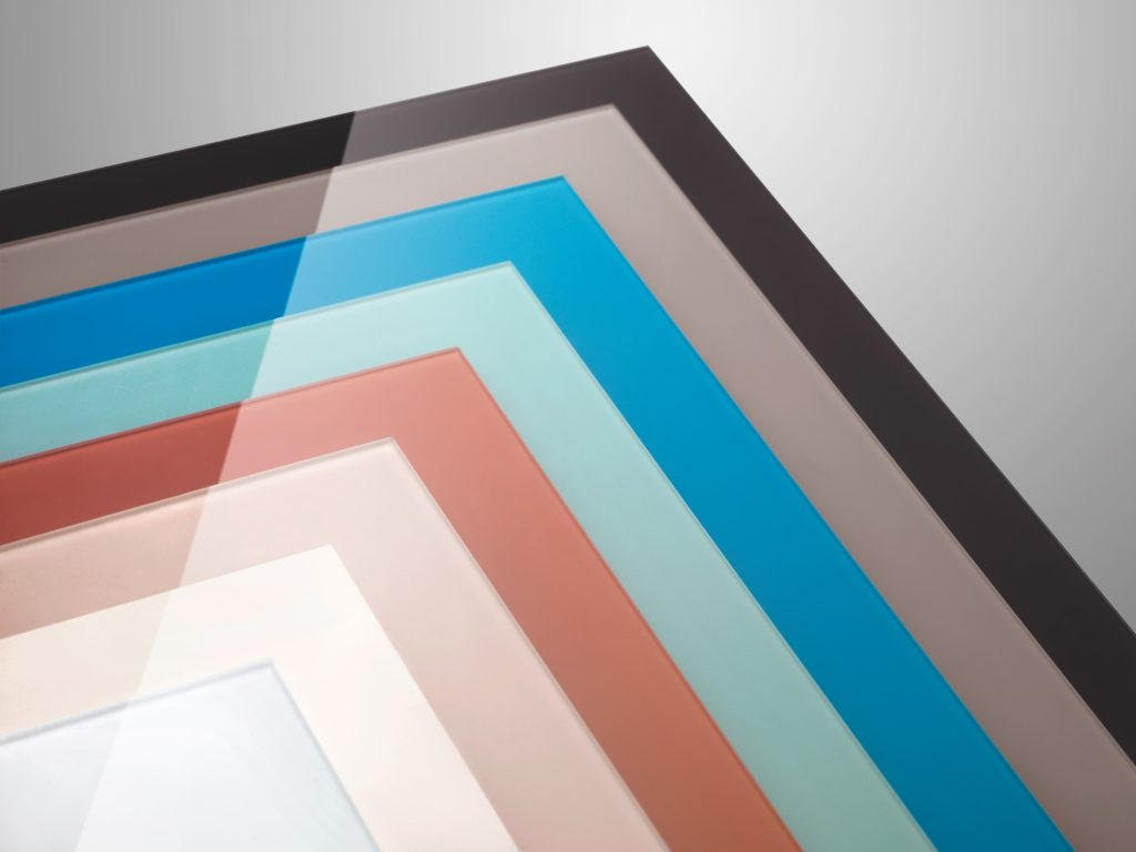 Polymer Back-painted Glass Surfaces