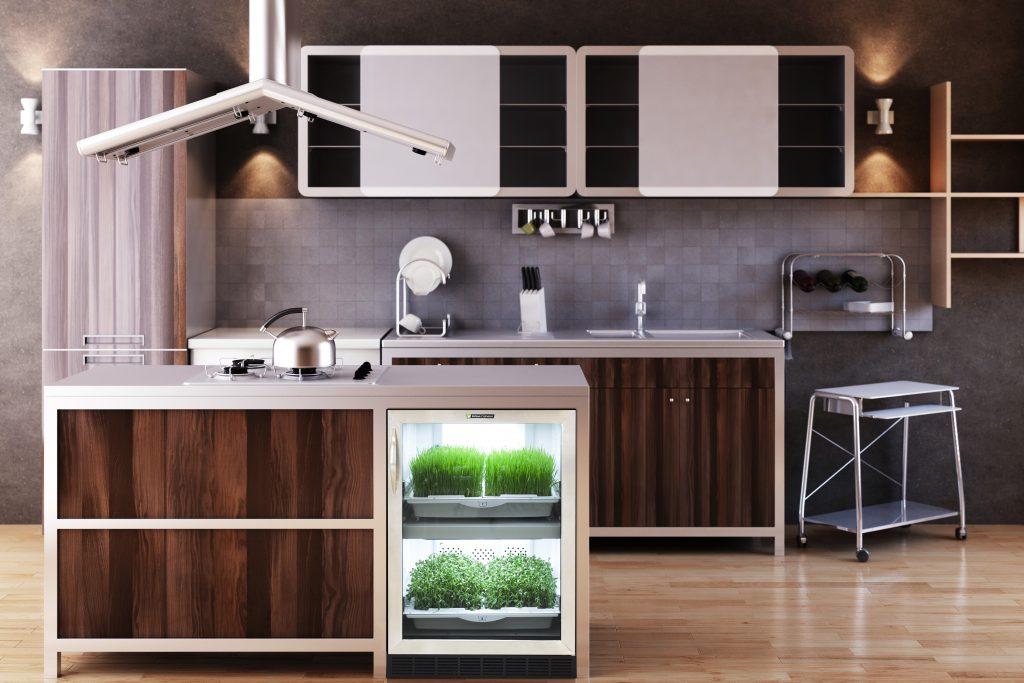 Self-regulating indoor garden unit