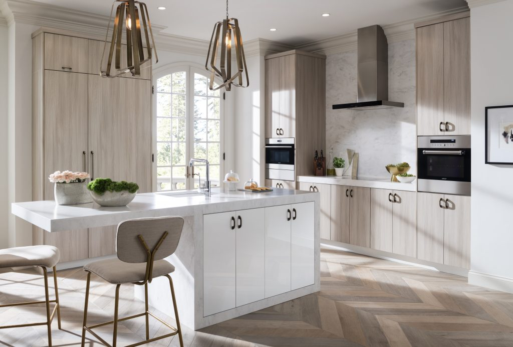 Textured Melamine and High Gloss Cabinets