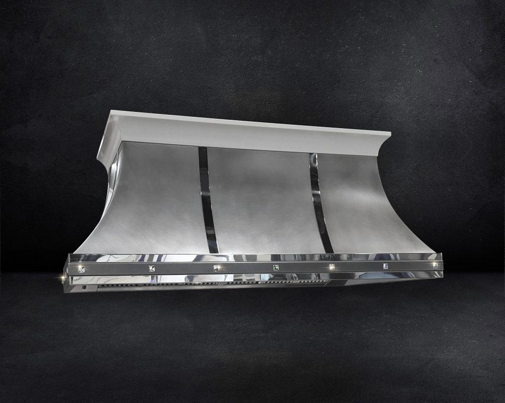 Crystal-Adorned Metallic Hoods
