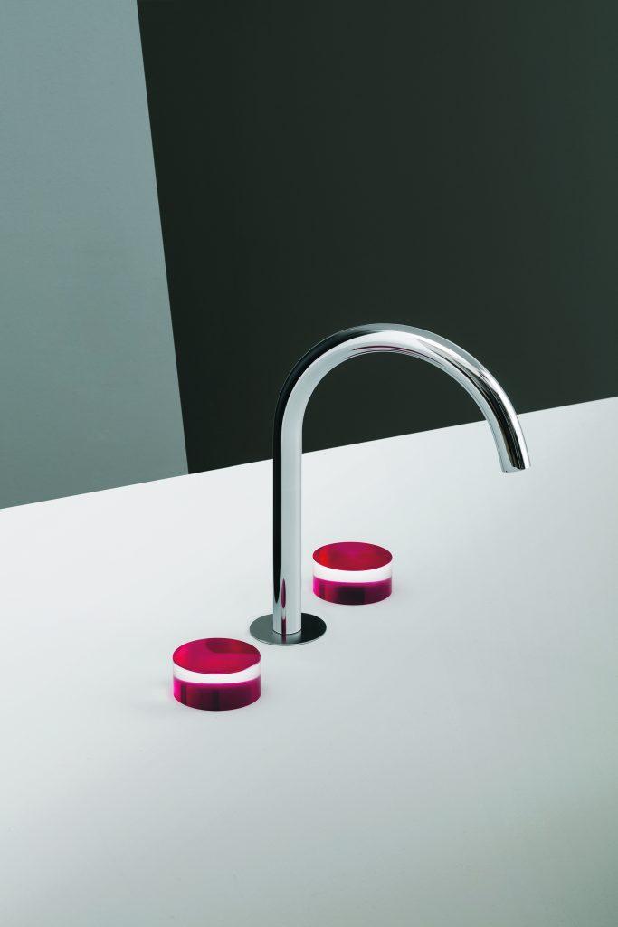 Faucet Combines Color and Translucent Elements