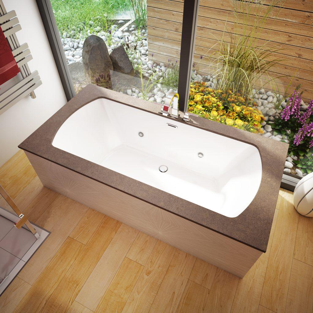 Quartz and Acrylic Tub Combo