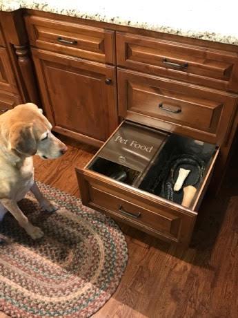 Stainless Pet Food Storage Drawer