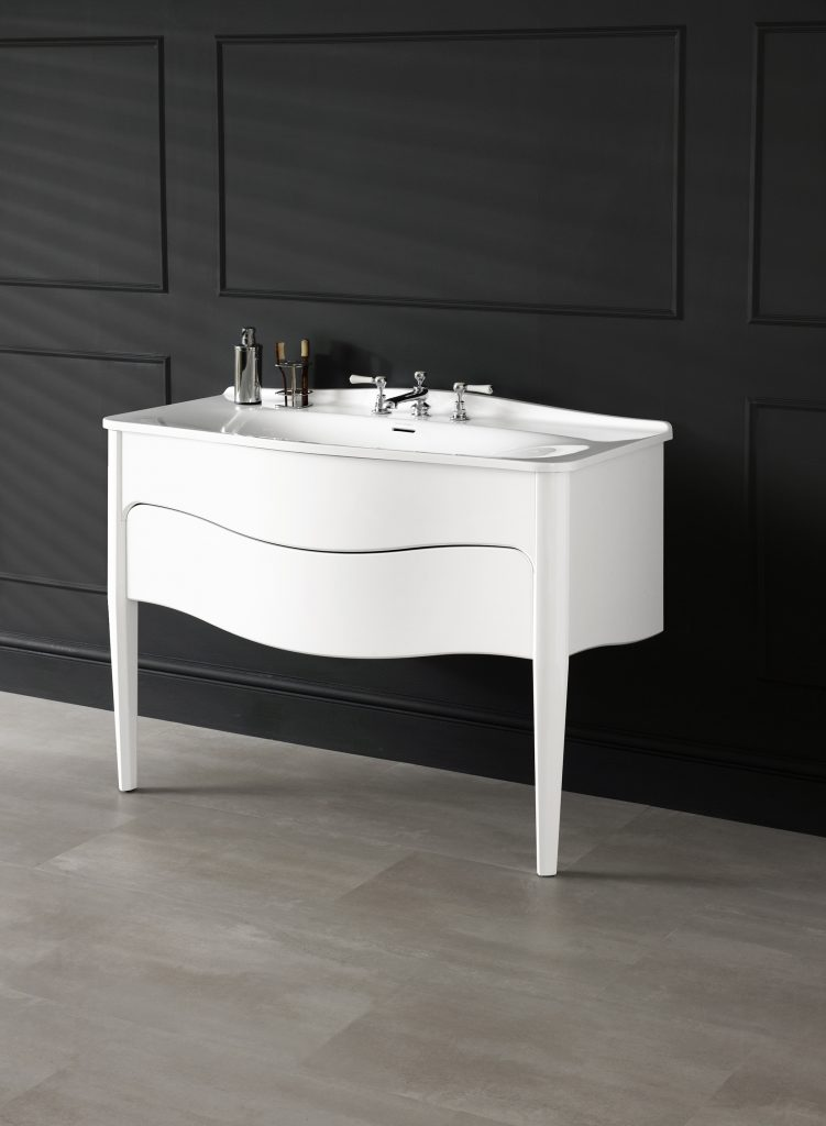 High Gloss White Vanity