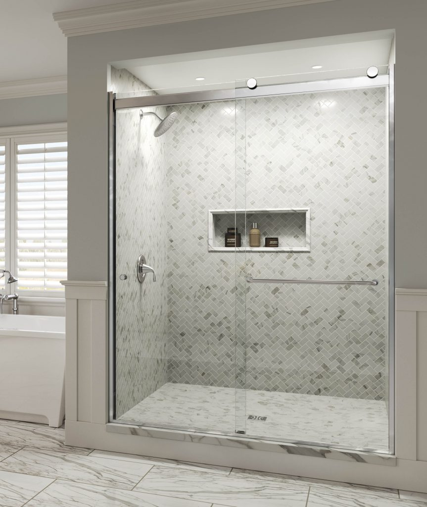 Rotolo Bypass Rolling Shower Doors