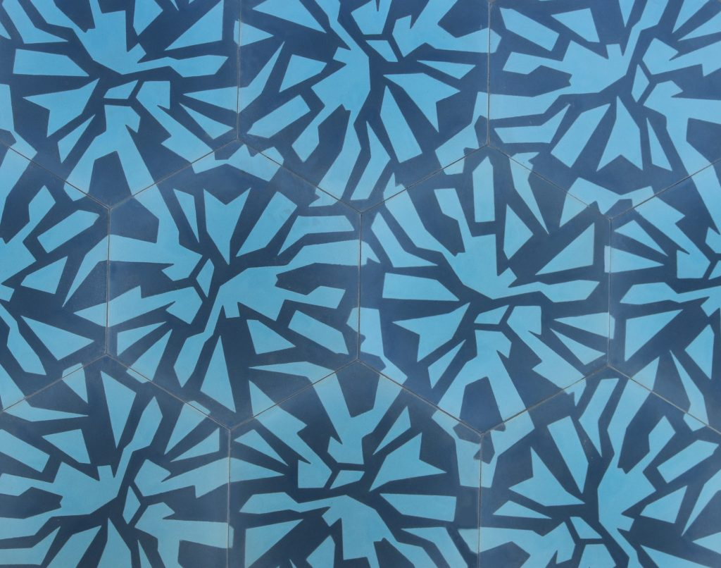 Facet Hexagonal Cement Tiles