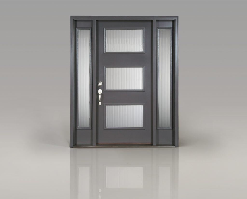 Entry doors complement to garage doors