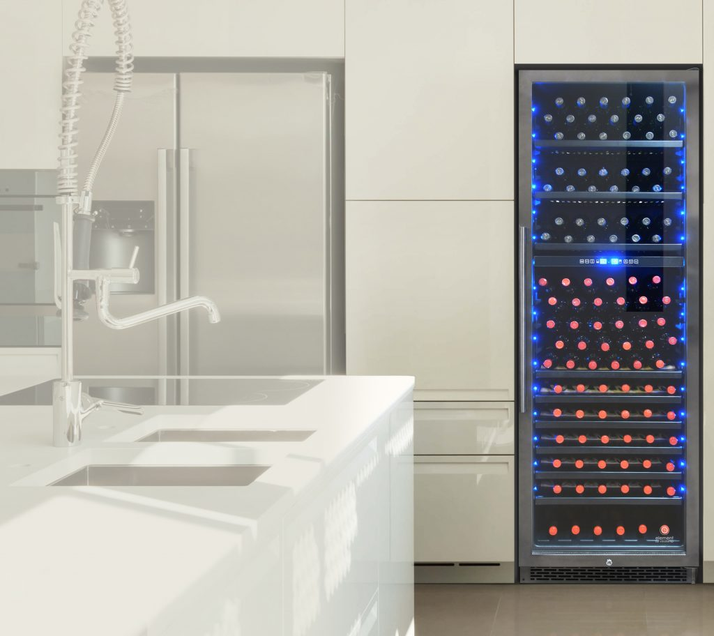 Black Stainless Wine Cooler