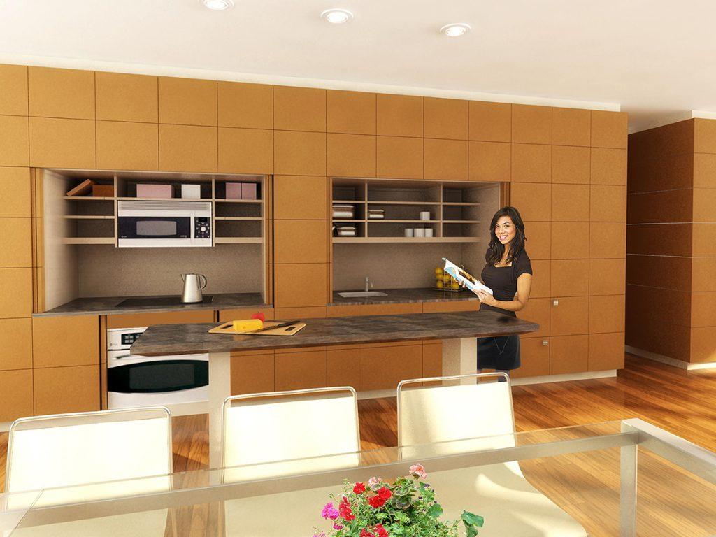 Hidden Kitchen Cabinet System