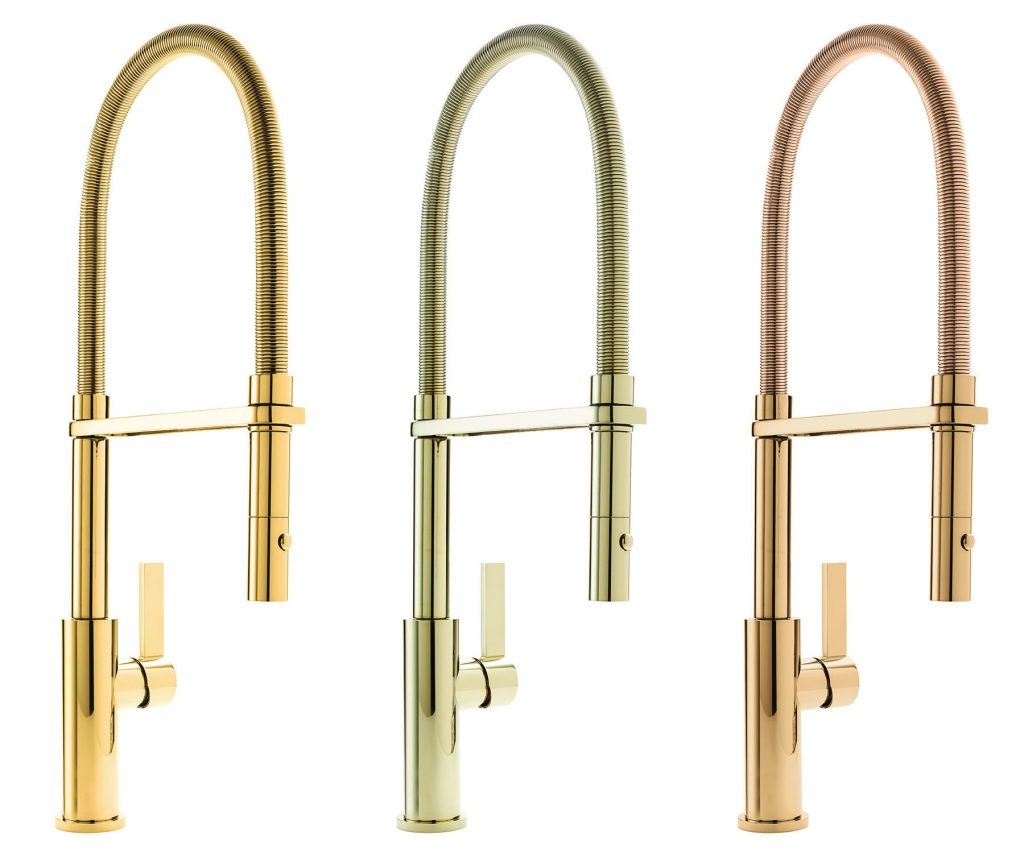 Gold-Tone Kitchen Faucet Finishes