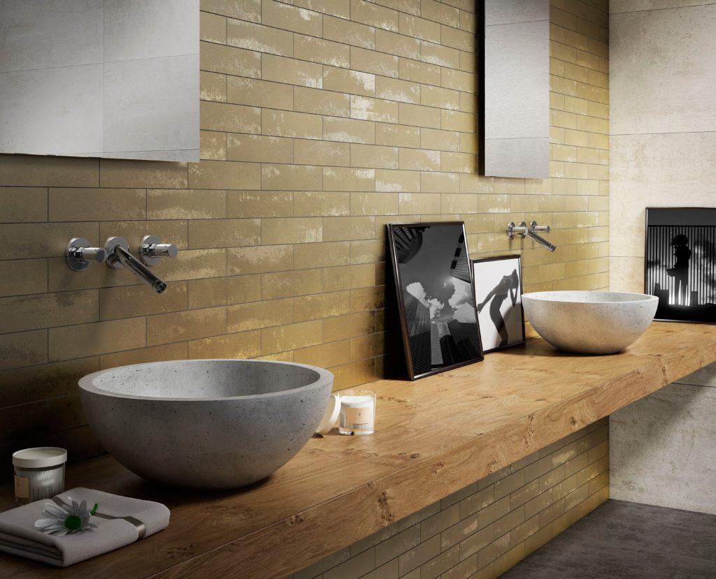 Porcelain tiles offer metallic option