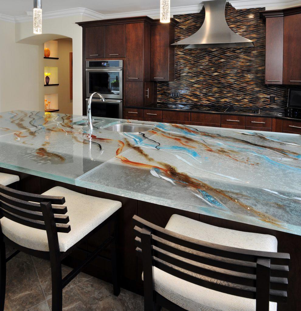 Artistic Glass Countertop