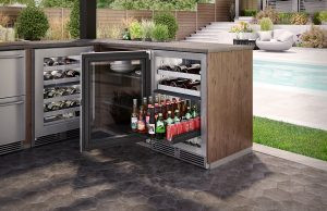 Outdoor Dual-Zone Refrigerator and Wine Reserve