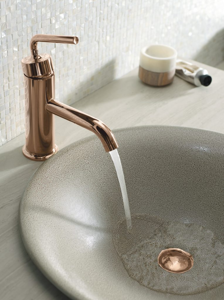Rose Gold Faucet Finish