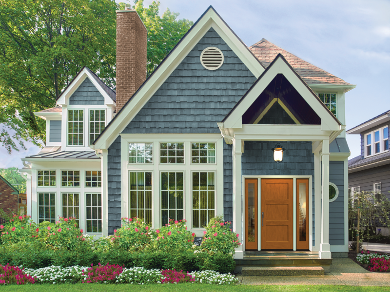 Classic-Craft American Style Collection Shaker-style doors, sidelites
