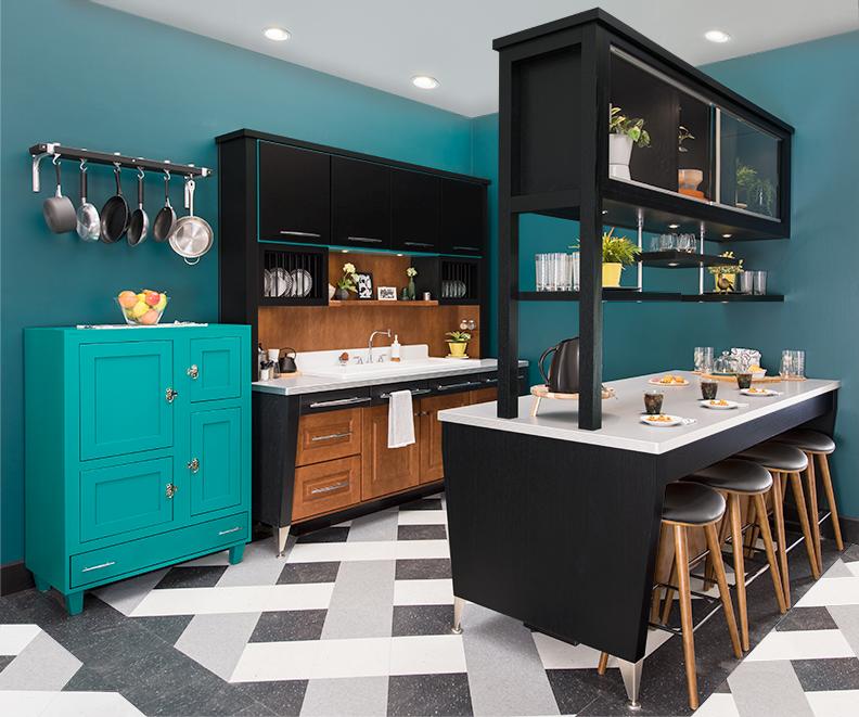 Retro-Modern Kitchen Design