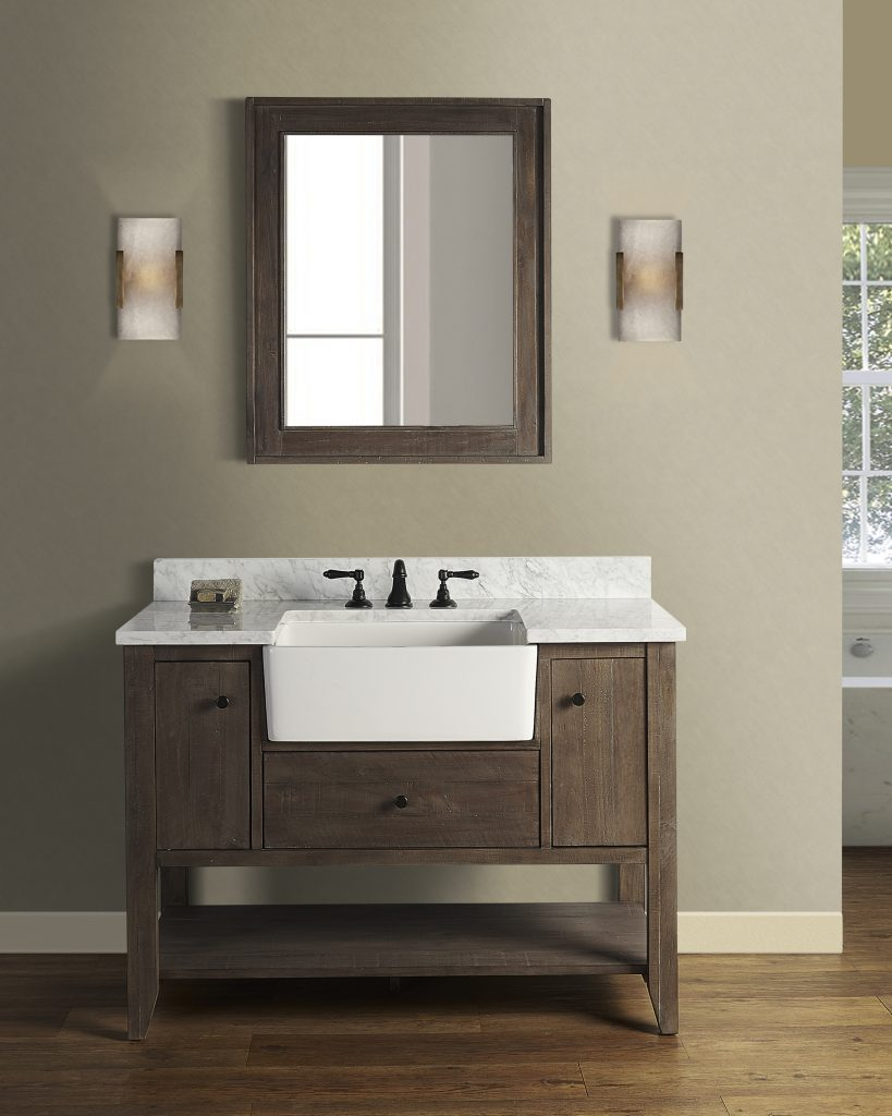 Farmhouse-style vanity offerings