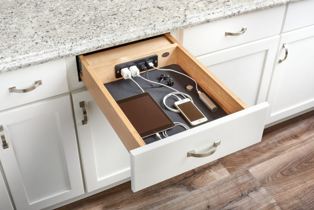 Maple Charging Drawer