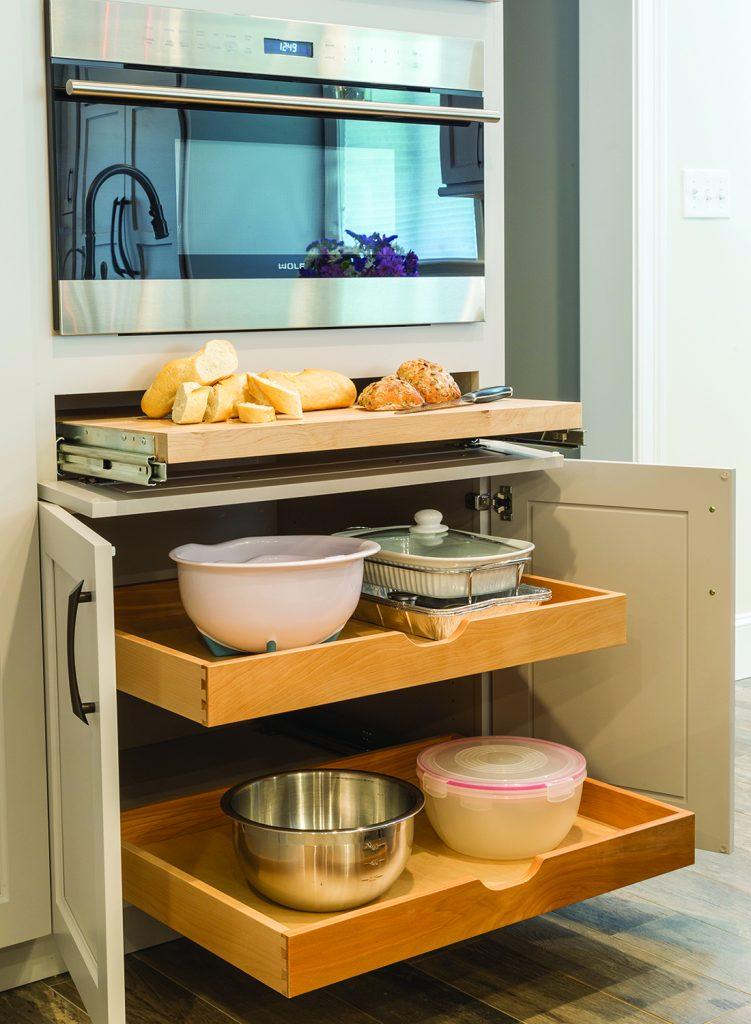 Custom Cabinet Storage Options