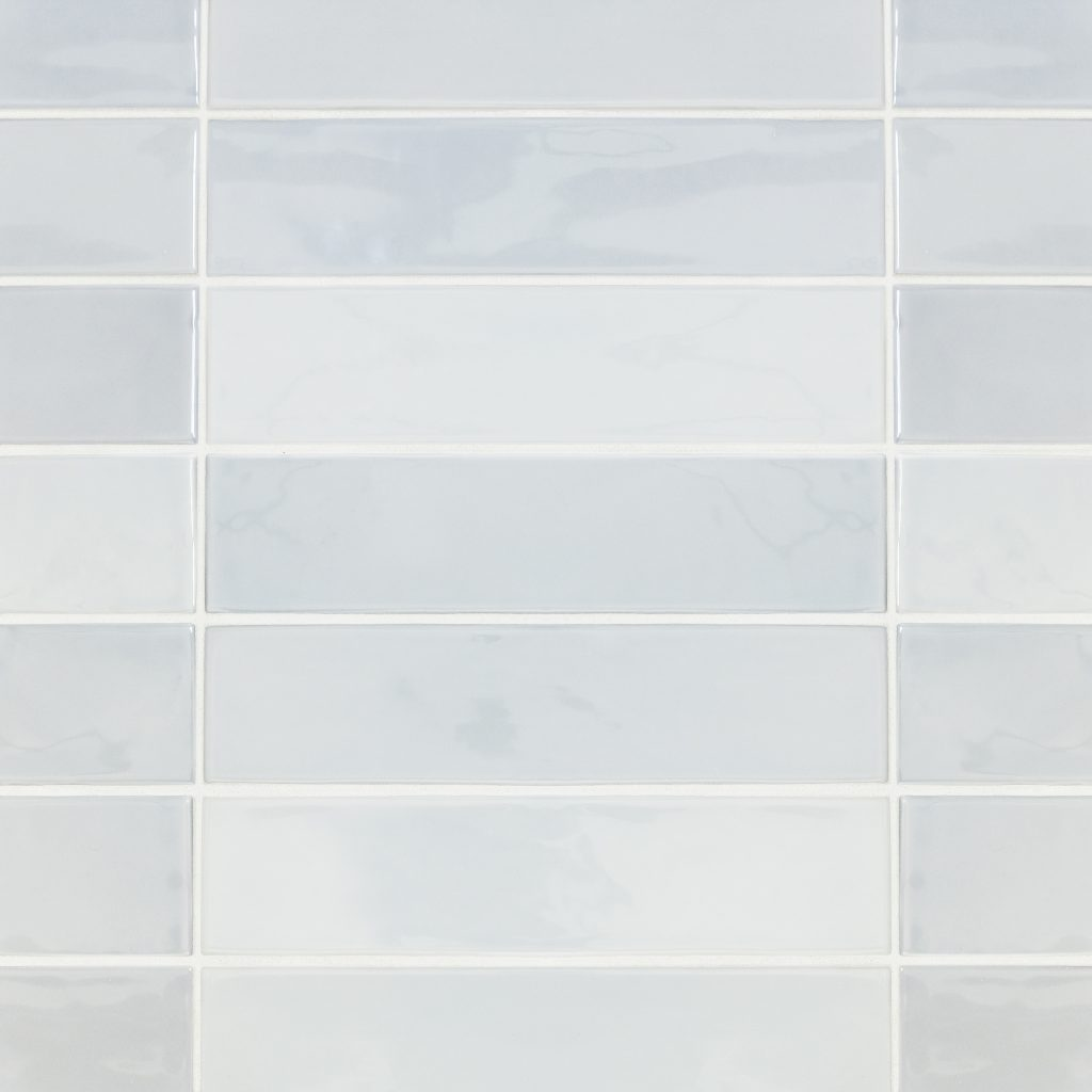 Subway tile in two sizes, pastel palette