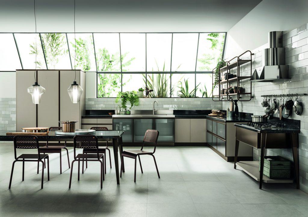 Open Industrial Kitchen Design