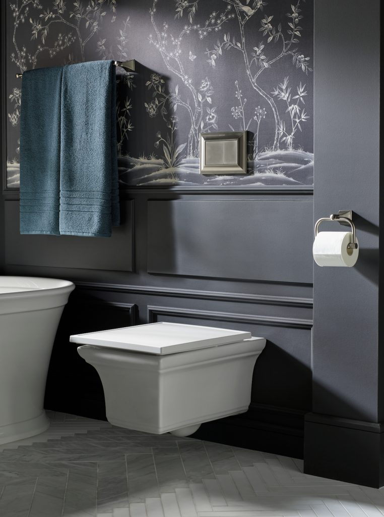 Wall-hung toilet maintains traditional elegance