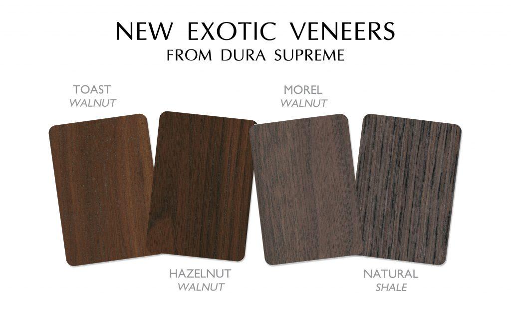 Contemporary line adds exotic veneer options