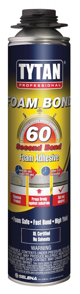 Foam-bonding adhesive sets in five minutes