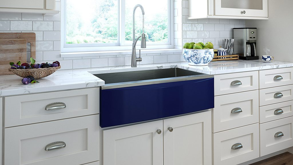 Farmhouse Sink with Interchangeable Front