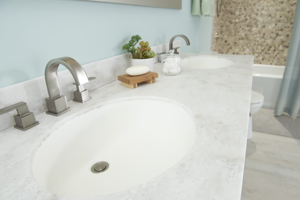Surfacing addition for vanity tops