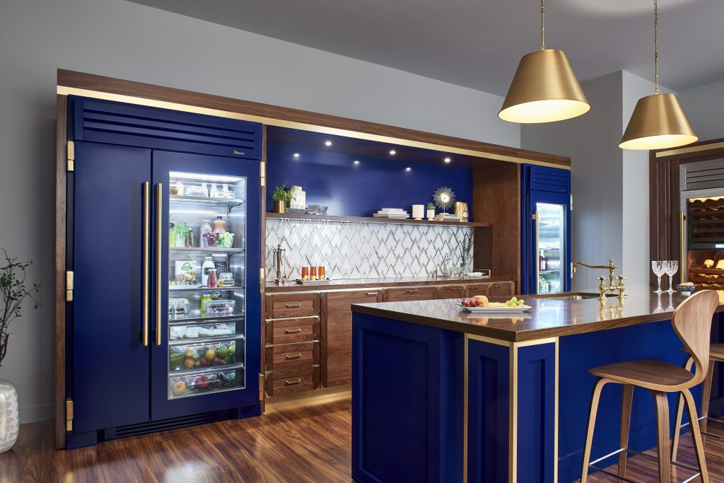 Glass door refrigerator with range of finish options