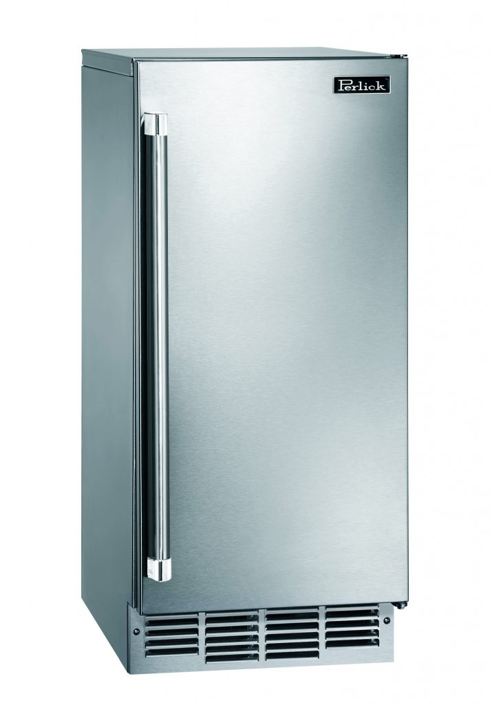 UL-rated, 15-in. ice maker