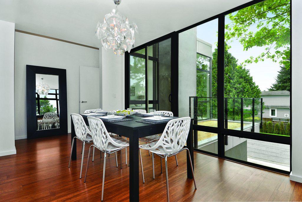 Dark interior finish options for doors