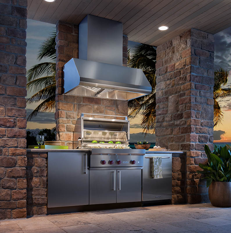 Size addition for outdoor range hood series