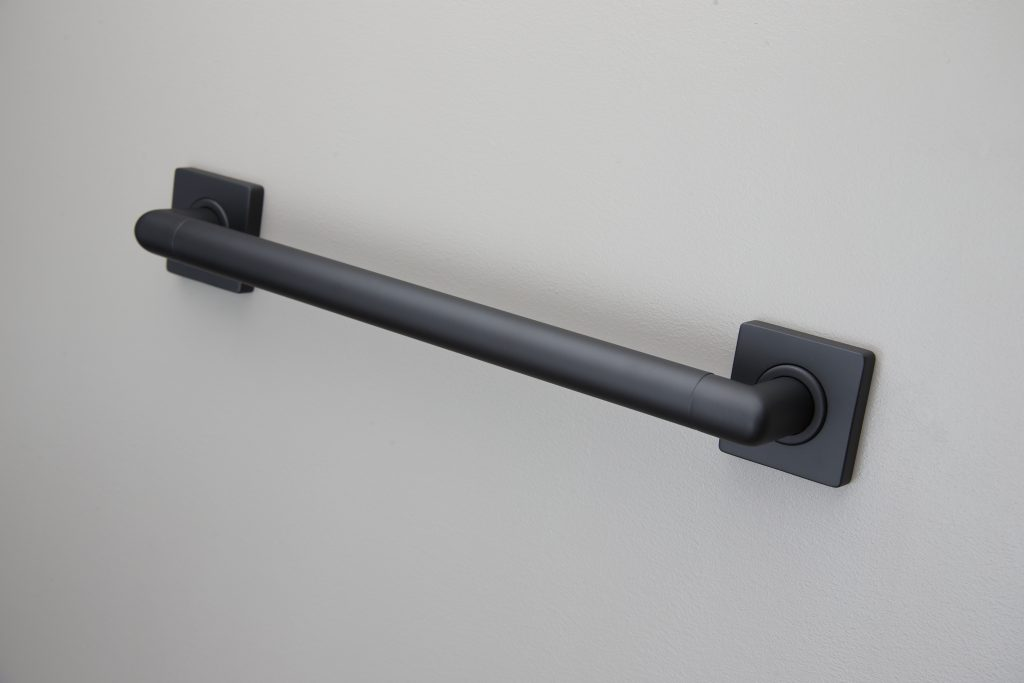 Grab bars in seven lengths, range of decorative finishes