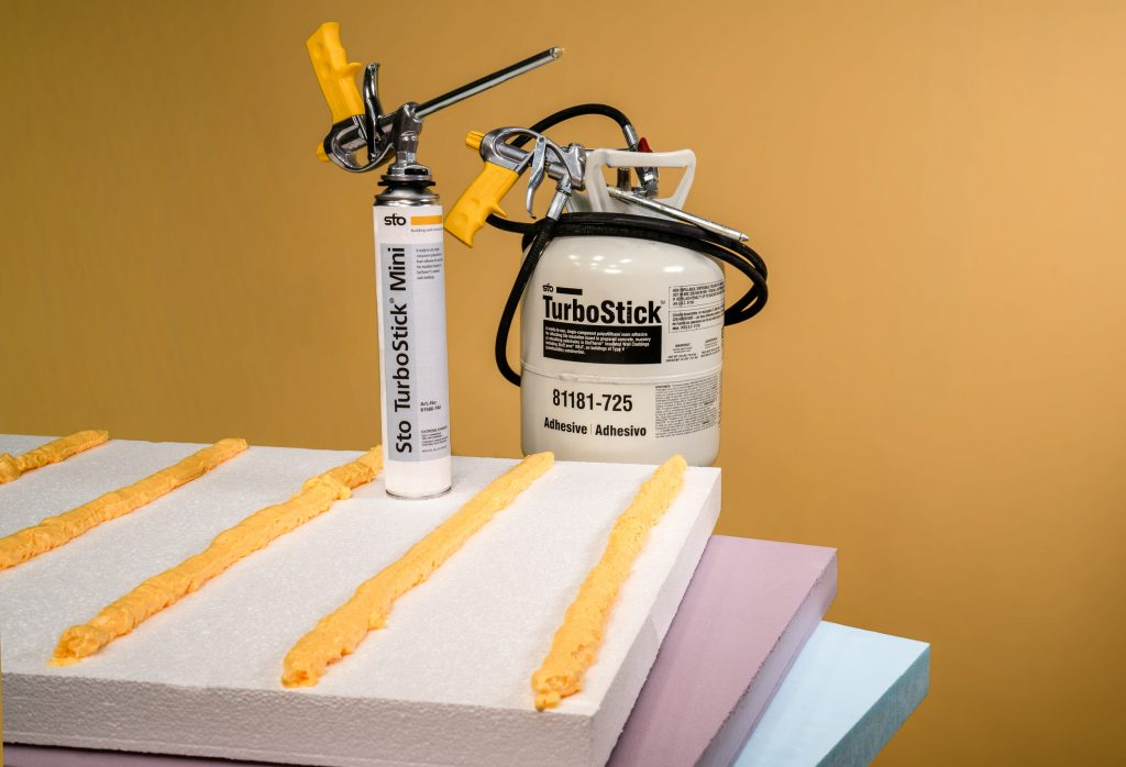 Ultra-compact adhesive delivery system