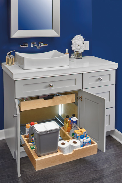 U-shaped organizer series for vanities