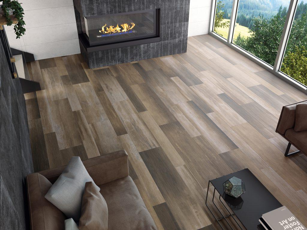 Glazed porcelain tile offers wood-look  Remodeling Industry News
