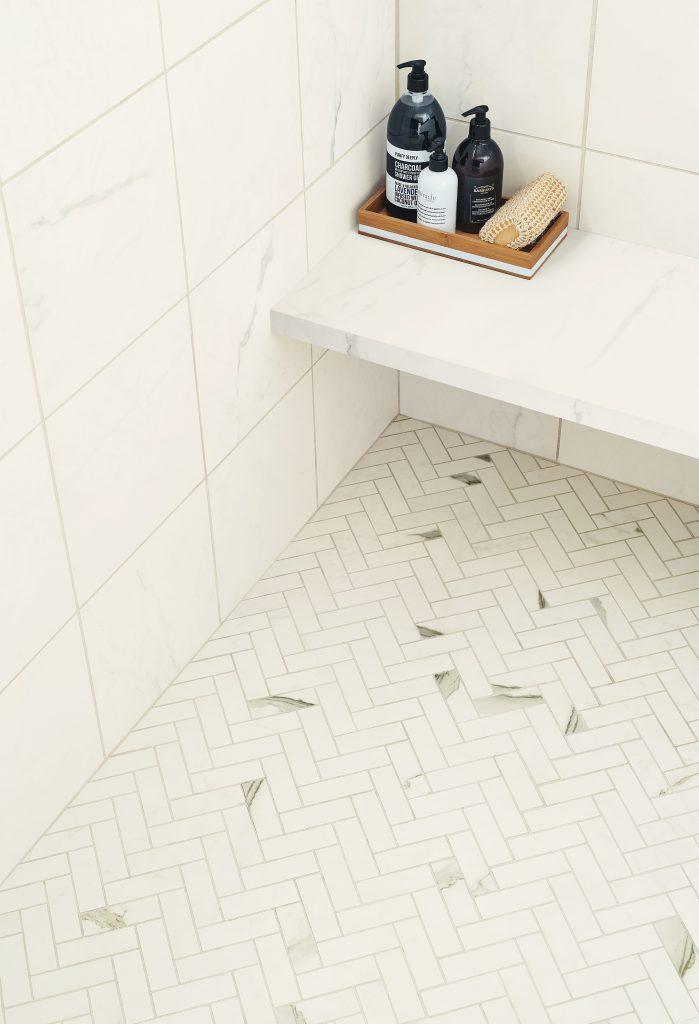 Porcelain tile captures look of Italian marble