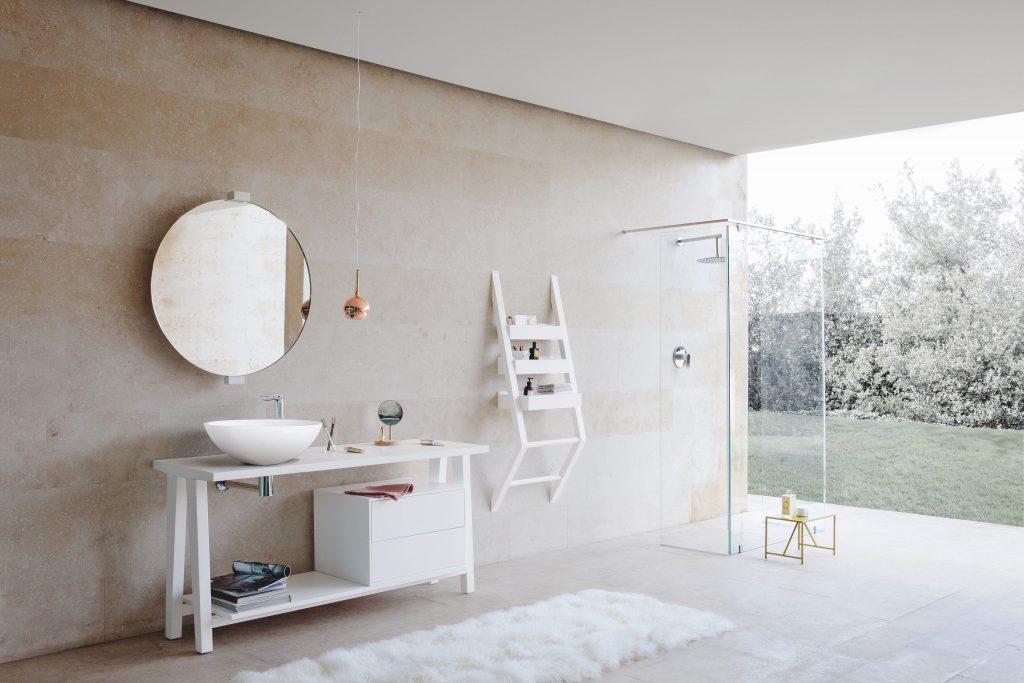 Carpenter's Bench-Inspired Vanity