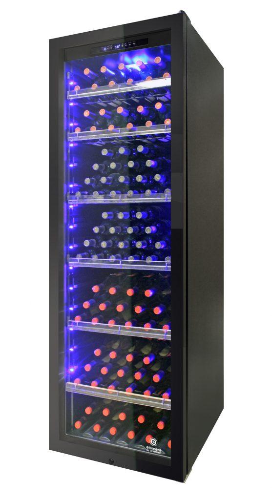 Storage capacity, aesthetics on display in wine cooler