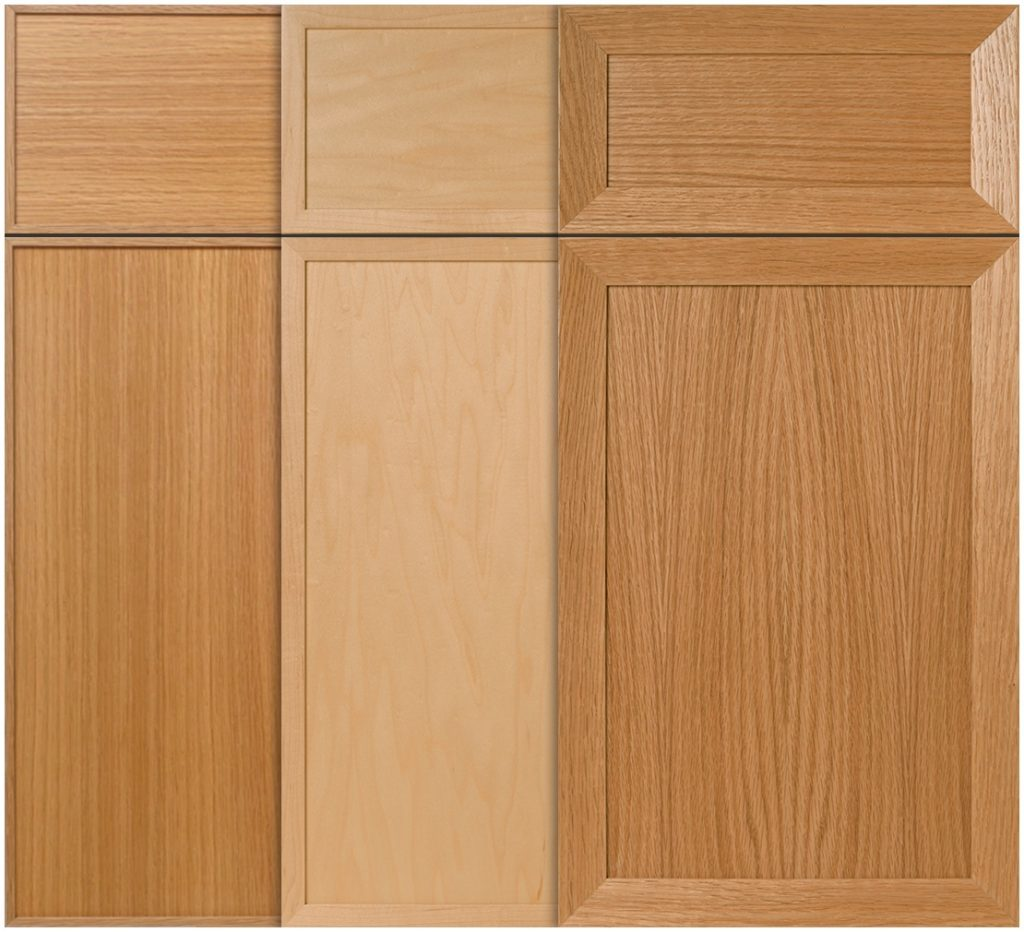 Dimensional detail for slab cabinet doors
