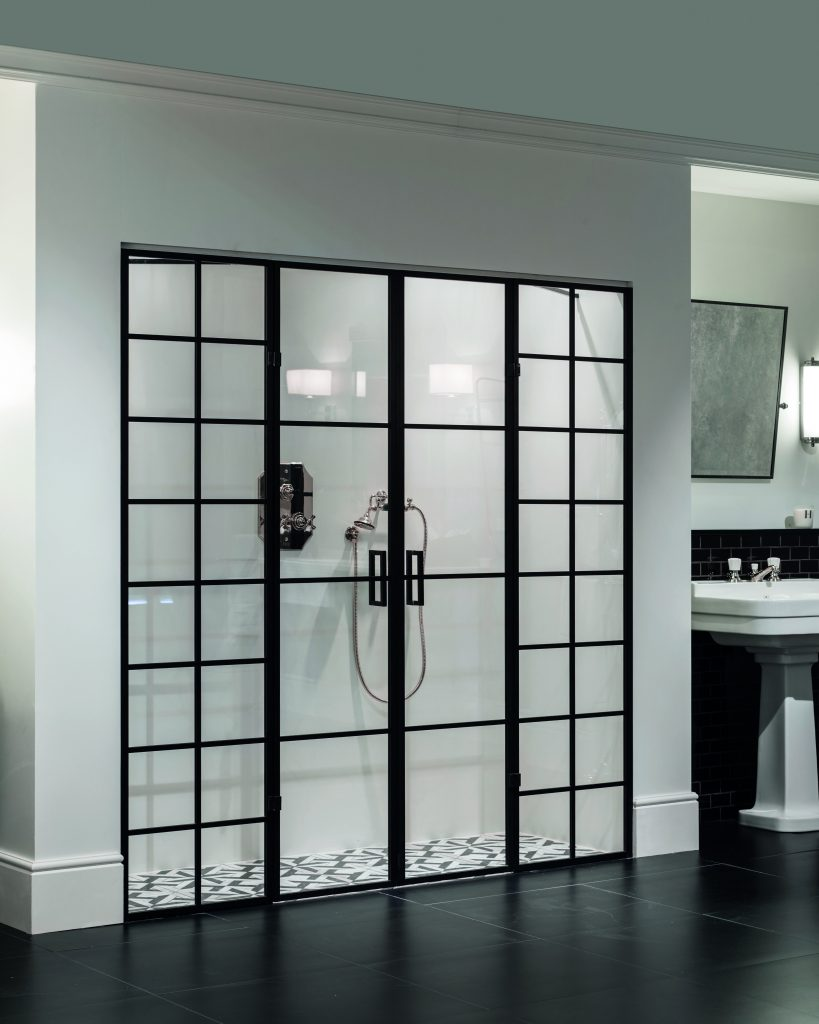 Aluminum Trimmed Shower Doors