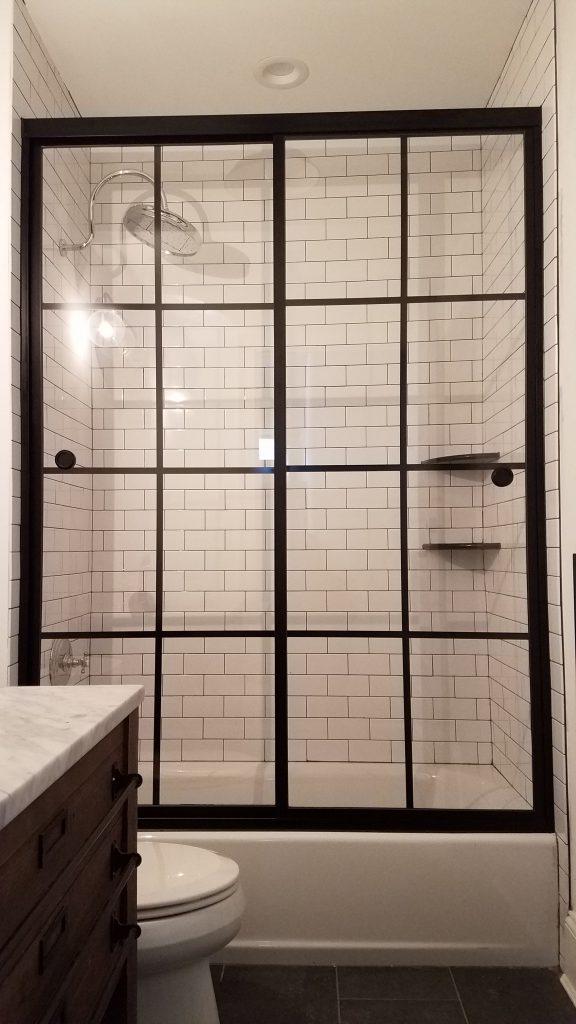 Grid Printed Shower Enclosures